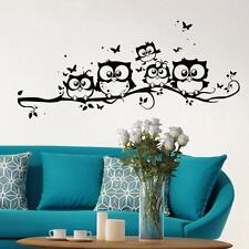 Home Decor Removable Art Decal Owl Cartoon Wall Sticker Kids Nursery Bedroom TR