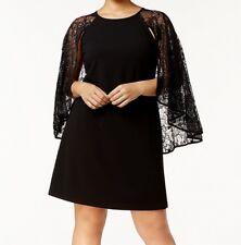 Calvin Klein NEW Black Womens Size 18W Plus  Lace Capelet Sheath Dress $149 807
