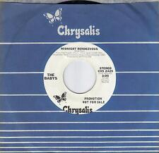 THE BABYS  Midnight Rendezvous  rare promo 45 from 1980  JOHN WAITE