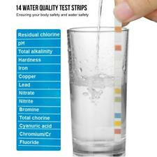 100Pcs Drinking Water Quality Test Kit for Hardness PH Lead Fluoride Iron Copper