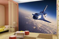 Space Shuttle Planets Earth Stars Wallpaper Mural Photo Children Kids Bedroom