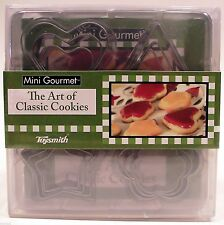Mini Gourmet The Art Of Classic Cookies Nested Cutters Set by Toysmith - BNew