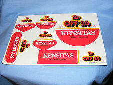 Vintage Old Shop Display Advertising Sign For Kensitas Cigarettes Smoking RARE