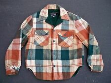Vintage JcPenney Wool Hunting Sport Work Barn Plaid Jacket Coat Mens Size Medium