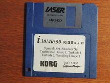 KORG i series I30 I40 i50 GAFFAREL styles Disk Spanish Swedish Turkish Wedding