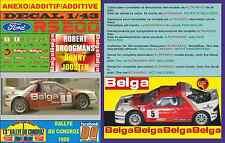 ANEXO DECAL 1/43 FORD RS 200 ROBERT DROOGMANS RALLYE DU CONDROZ 1986 (09)
