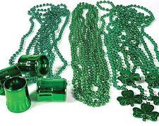 St Patrick's Day Necklace Beads (72 pc Shamrock) assortment