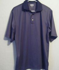 NWT Kirkland Signature Men's Performance Polo Short Sleeve Navy Shirt Size Med