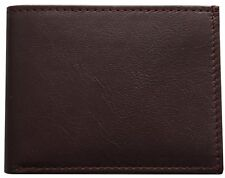 Kids Small Soft and Thin Bifold Brown Very Cute Boys Mini Leather Wallet Gift