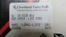 Cleveland Twist 16 Drill Bits Package Of 10