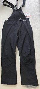 Arctix Therma Tech Zip Leg Bib Pants Snow Ski Outdoor Black Women Size Small