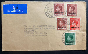 1937 Tanger British Agencies Morocco Airmail  Cover To London  King Edward VIII