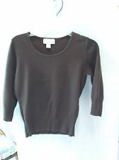 Woman's Brown Blouse/Sweater from Casual Corner Annex Petite Size PM