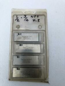 """RIDGID 47765 HIGH SPEED UNV CHASER/ DIE SET FOR THREAD MACHINE 1/2""""-3/4"""" NPT #12"""