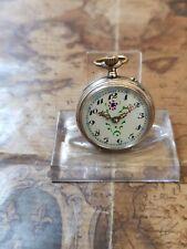 alte 800 Silber Bauern-Taschenuhr mit 10 Rubine Uhrwerk (15)