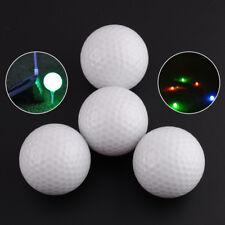 4X Light-up Flashing Glowing LED Electronic Golf Ball for Night Golfing Tracker