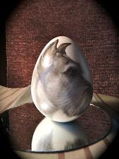 Eggzakly Porcelain Egg w/Scottish Terrier Dog perfect condition orig. label