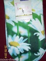 NEW DAISY ankle SOCKS, Kids 12.5 -3.5, Age 7-10, Silky Polyester; Digital Photo