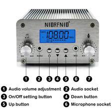 T6B 6W FM Transmitter Long Range Stereo Broadcast Station PLL LCD + GP ANT YmUK