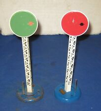 Vintage Hornby O Gauge French Red And Green Disc Signal Pair