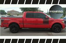 F150 Solid Side Body Hockey Decals Stripes Ford Black Carbon Fiber Graphics