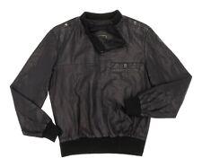 Vintage SAXON Leather Jacket S Small Mens Vtg PULLOVER Bomber Motorcycle Jacket