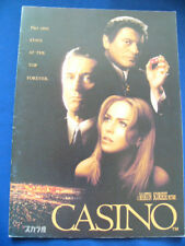 a283.1996 CASINO Japan PROGRAM Robert De Niro Sharon Stone Joe Pesci VERY RARE