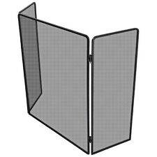 Jumbuck Fire Screen Tri Fold Panels Fireplace Guard Barrier Safety Protection