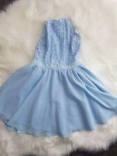 Women`s Misguided Blue Sleeveless Midi Dress Size UK 10