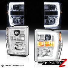 For 08-10 Ford F250 F350 F450 Superduty Light Tube LED Projector Headlight Lamp