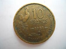 Moneda de 10 francos de 1951