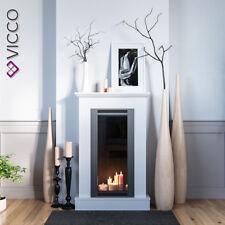 VICCO Kaminumrandung im Shabby Landhaus-Stil Kaminkonsole 110x70 cm Weiß
