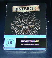DISTRICT 9 POP ART EXKLUISVE STEELBOOK EDITION BLU RAY NEU & OVP