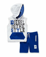 NWT Diesel (Toddler Boys) Two-Piece Mesh Trim Hoodie & Shorts Set Size 6