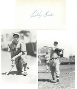SIBBY SISTI, 1939-42, 1946-54 BOSTON/MILWAUKEE BEES/BRAVES, SIGNED INDEX W/PHOTO