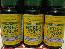 Puritan's Pride Herbavision Lutein Bilberry Softgels-Eye Health-360 day supply!