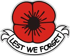 Armistice Day 11/11 Remembrance Day Poppy Poppies Lest We Forget Exterior Vinyl