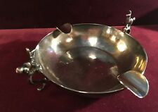 Antique Andean Peru Sterling Silver Round Ashtray with Llamas