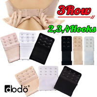 3ROW 2,3,4Hook Bra Extender Extension Bra Strap Strapless Underwear Maternity