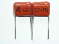 50PCS CBB21 105J 400V 1UF 1000NF P15 Metallized Film Capacitor