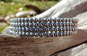 Silver Pearl Choker Wedding Jewelry Necklace Prom Costume Rhinestones Freshwater