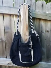 Fair Trade Handmade Women's Striped Black Purse/ Handbag