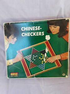 Wooden chinese checkers Game by Brio of Sweden.