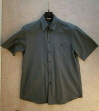 Zanella Men's Medium Blue Gray Button Shirt Made in Italy NICE!!!