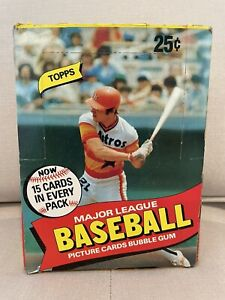 1980 Topps Baseball Card Wax Box - Possible PSA 10 Rickey Henderson