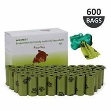 Bolsas caca perro, 600 Bolsas de Compost para Perros con 1dispensador(32X22cm)