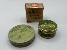More details for victorian british army 1850s firths green healing salve medicine tax duty label