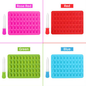 50 Bear Silicone Gummy Chocolate Baking Mold Ice Cube Tray Candy Jelly Mould