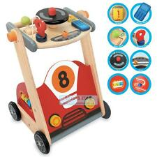 NEW Wooden Baby First  Racing Walker With 8 Fun Activity Push Walker Toy & Gift