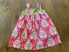 Hannah Kate girls size 5 tie knot dress pink flowers